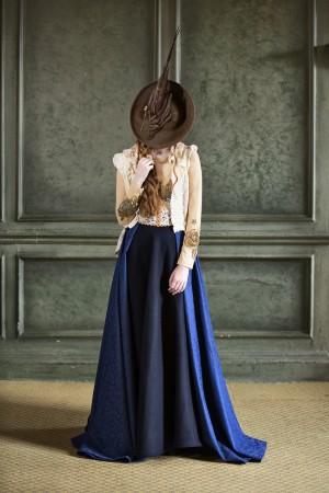 Blue Calzeat Skirt
