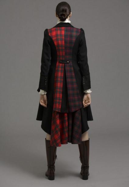 coat and skirt